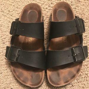 Birkenstocks- Arizona, black leather